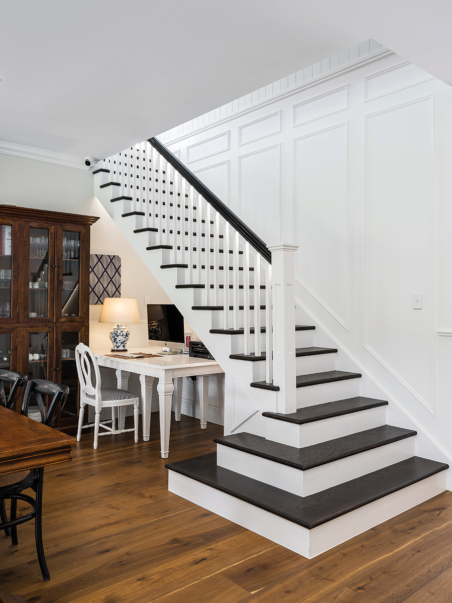 TM Residential renovated farmhouse staircase