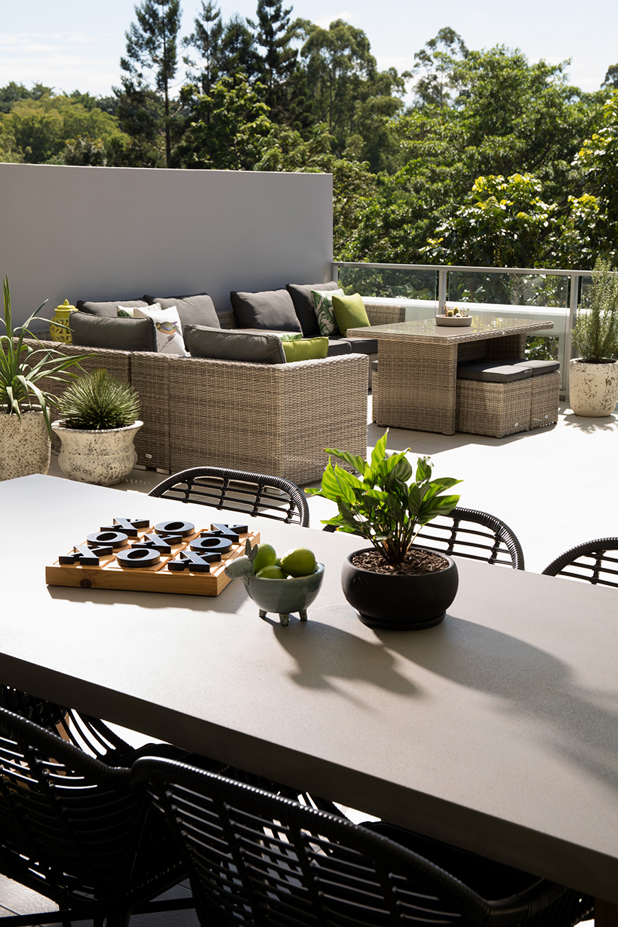 Ivy + Finch apartment interior design outdoor terrace