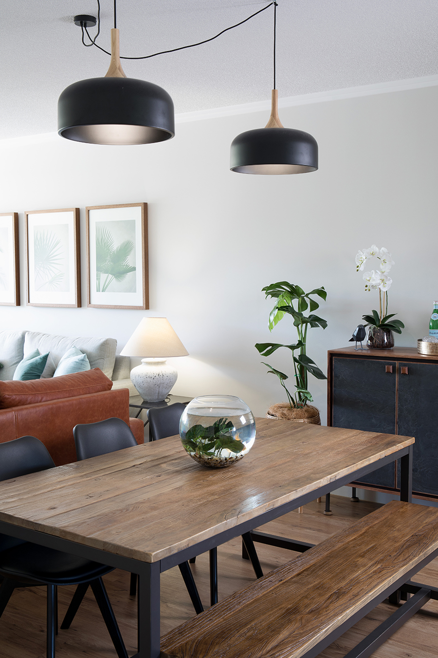 Ivy + Finch apartment interior design dining space