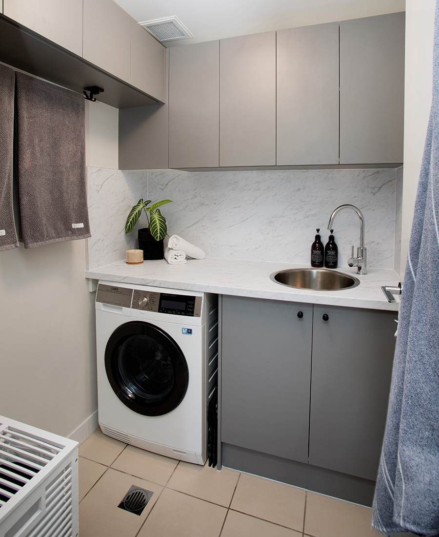 Ivy + Finch apartment interior design laundry
