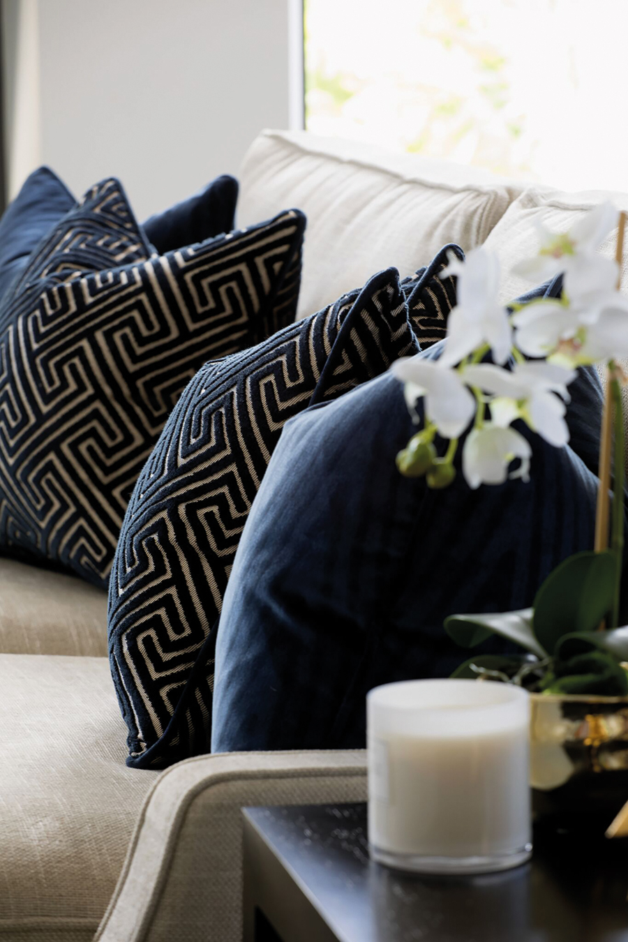 Palm Interiors regent interior design cushions