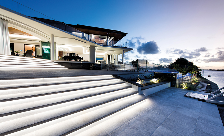 Queensland Homes Struxi Design waterfront luxury home