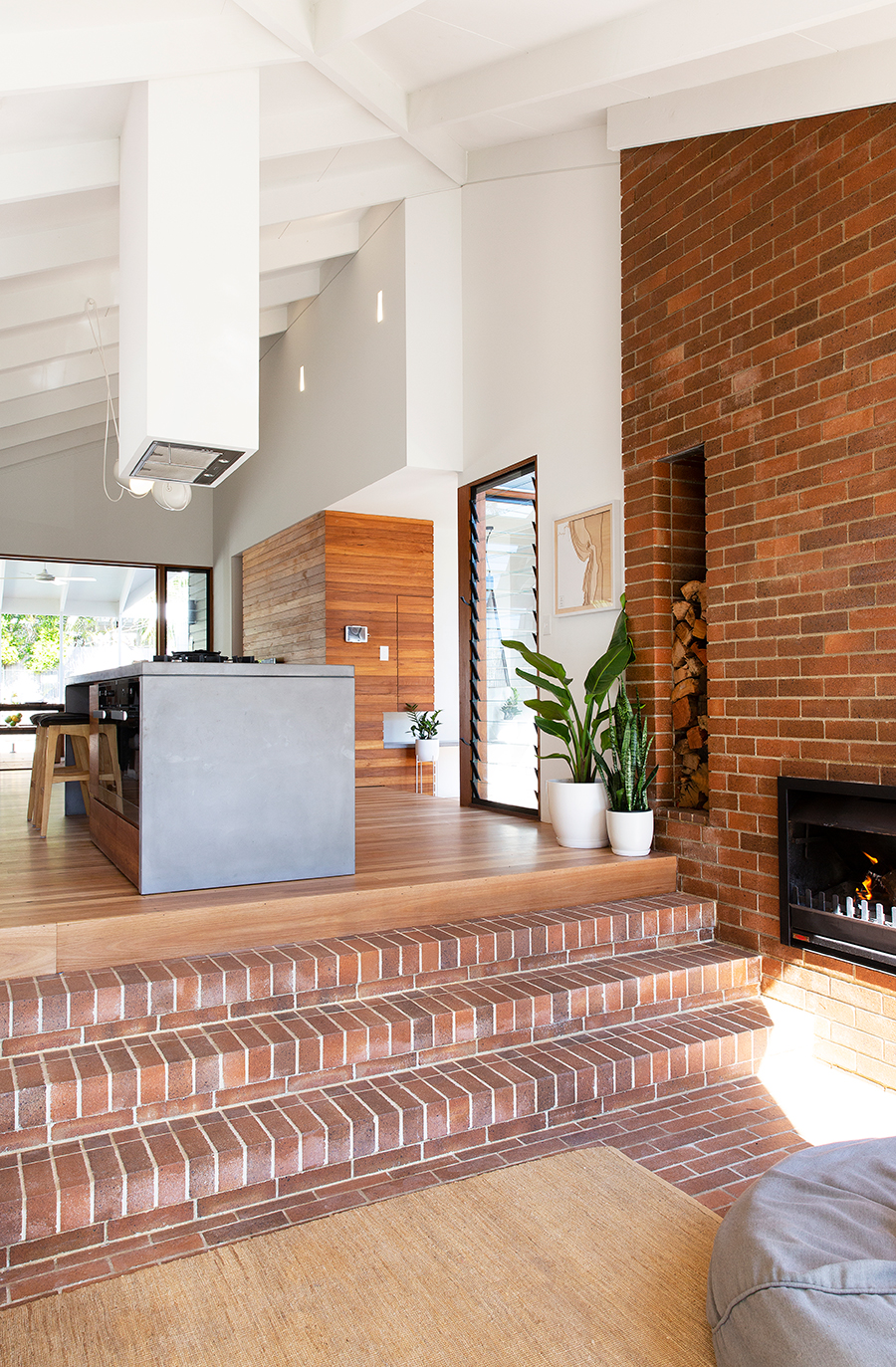 Bacchus House by Smith Architects fireplace brickwork