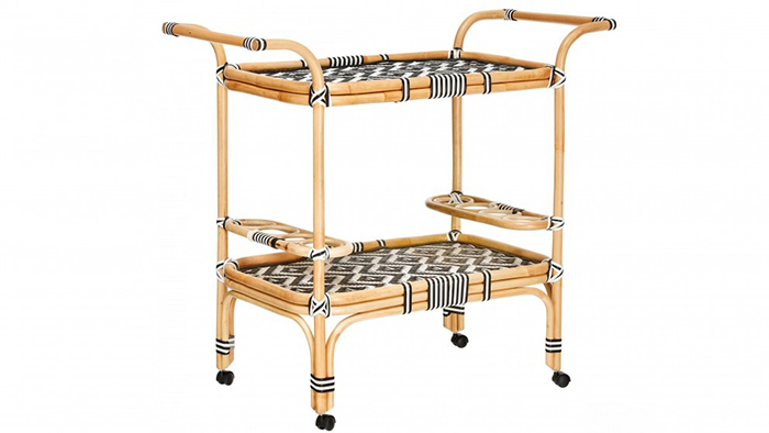 Hamptons Rattan Trolley from Domayne
