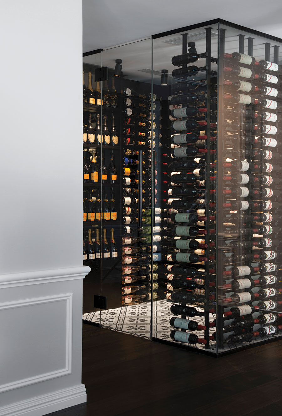 CG Design Studio wine cellar design