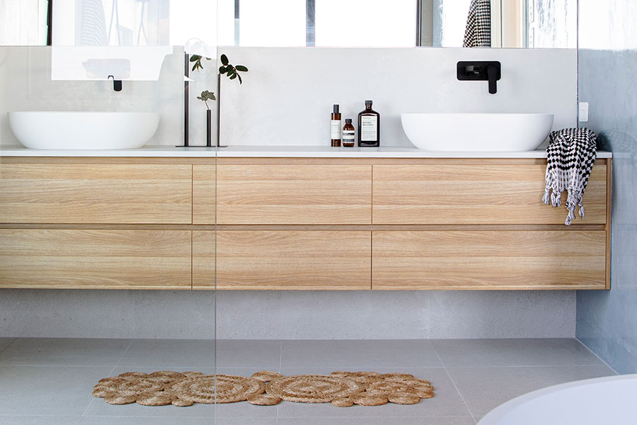 Creative Co. modern timber bathroom cabinet