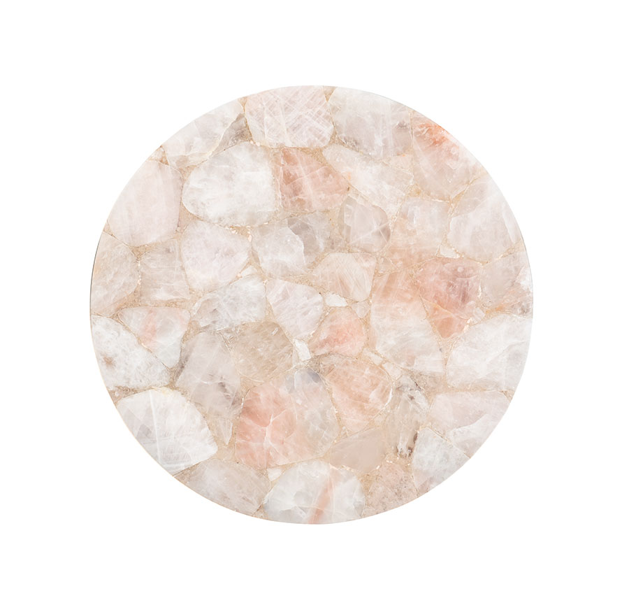 Rose Quartz side table from Max Sparrow