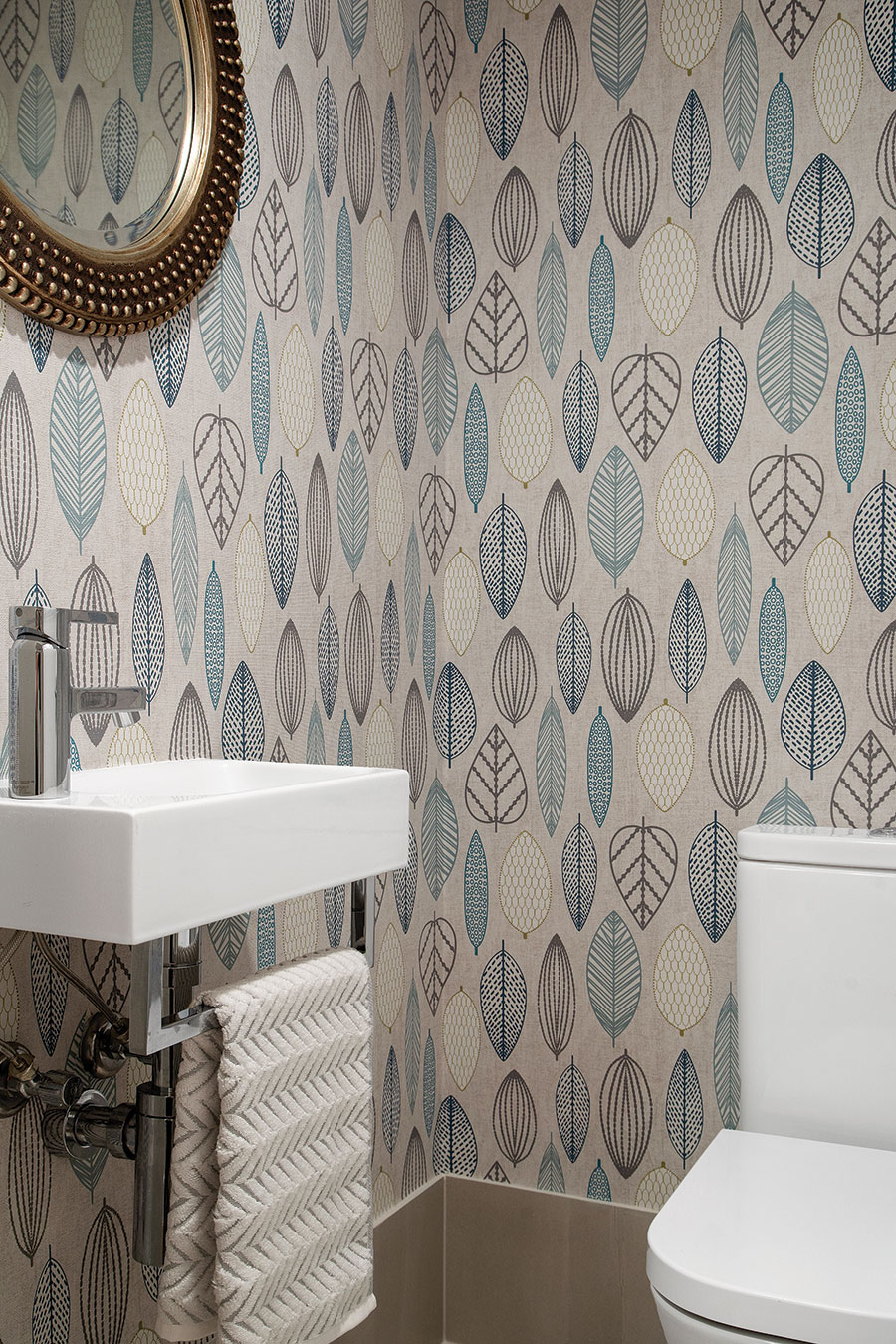 Earthborne by Design ensuite wallpaper