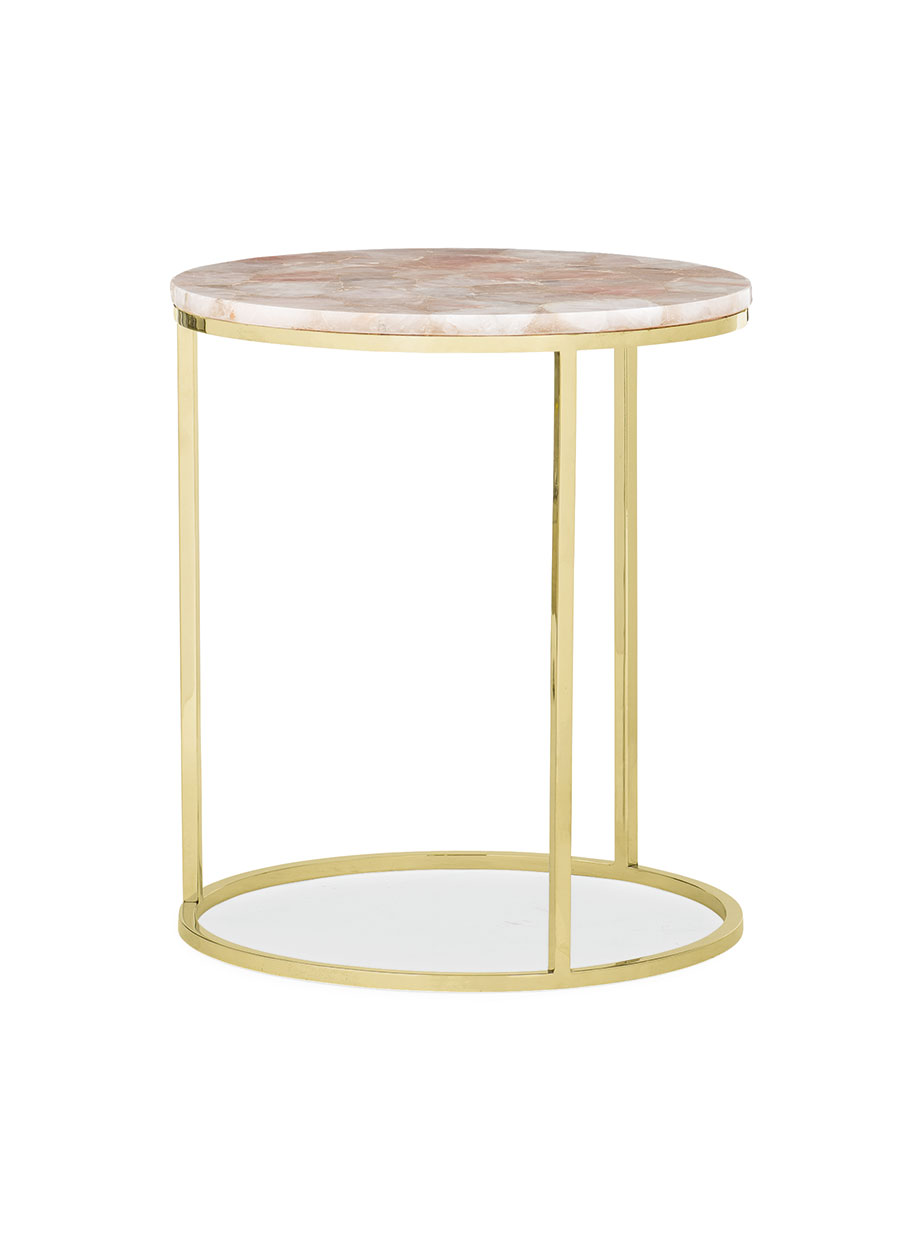 Rose Quartz side table Max Sparrow