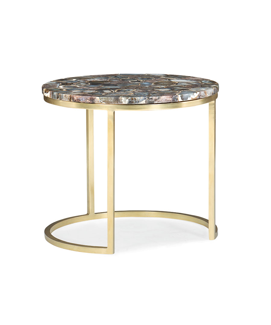 Black agate side table Max Sparrow