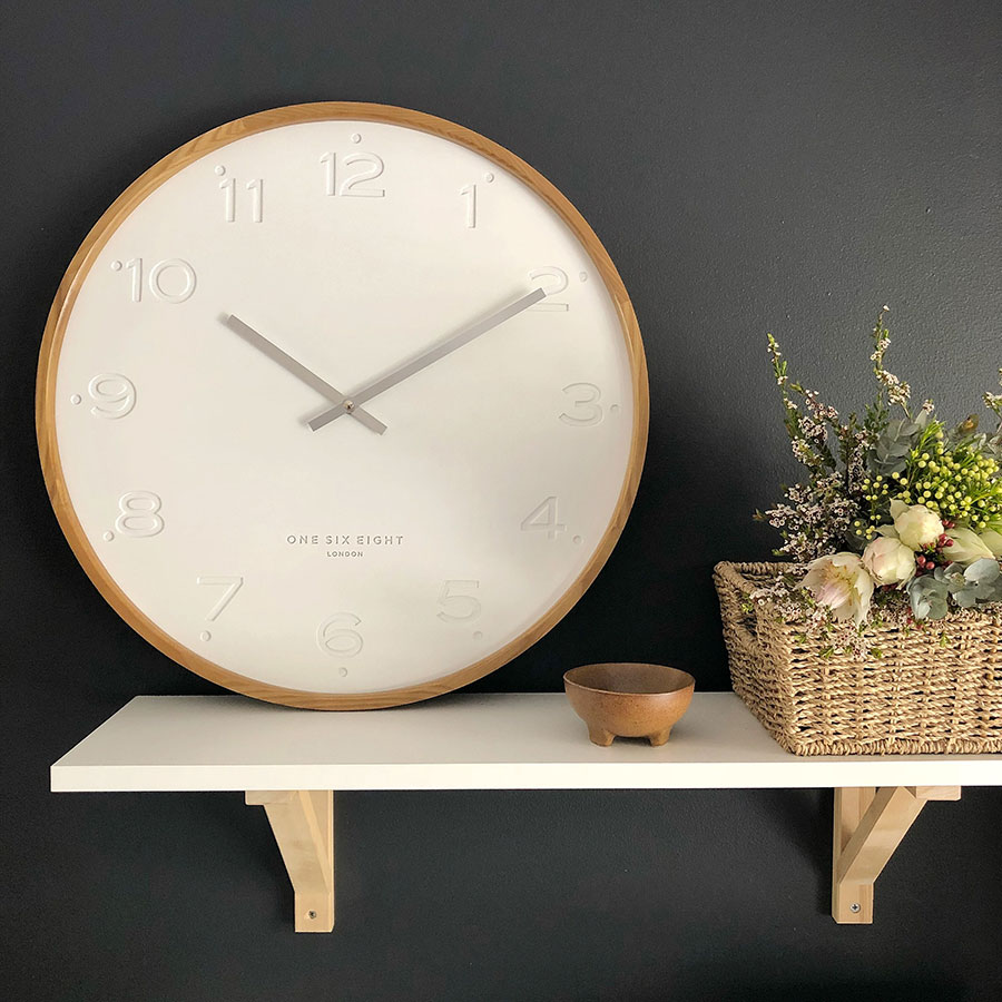 Purely Wall Clocks Wooden and Silent clock