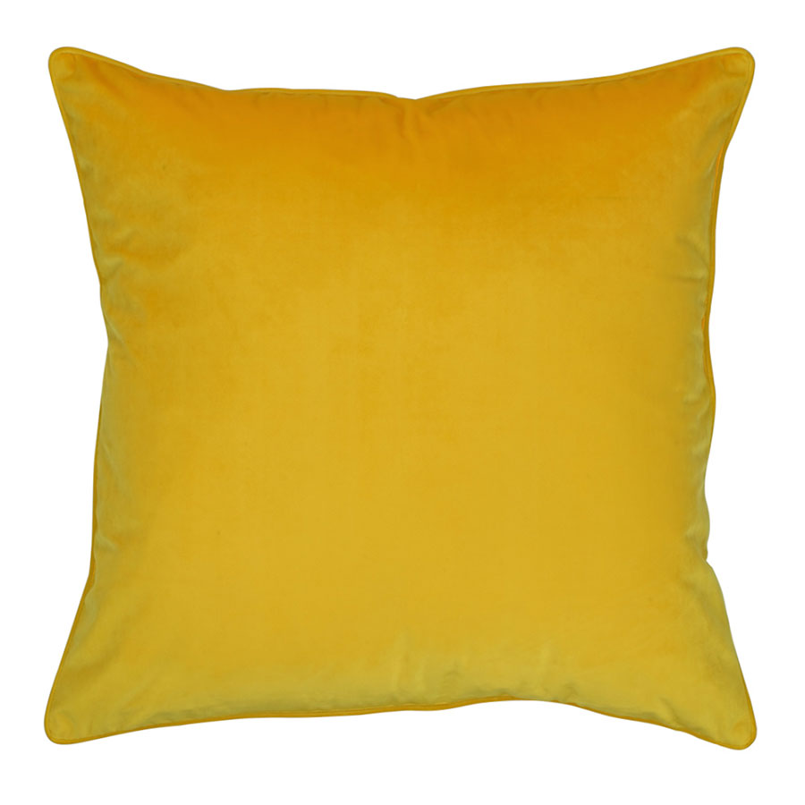 Simply Cushions yellow velvet