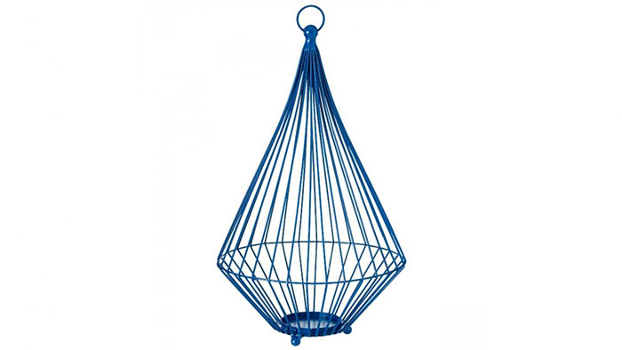 Hanging Wire Lantern in Blue Domayne