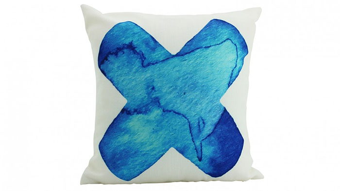 Big X cushion in Blue Domayne