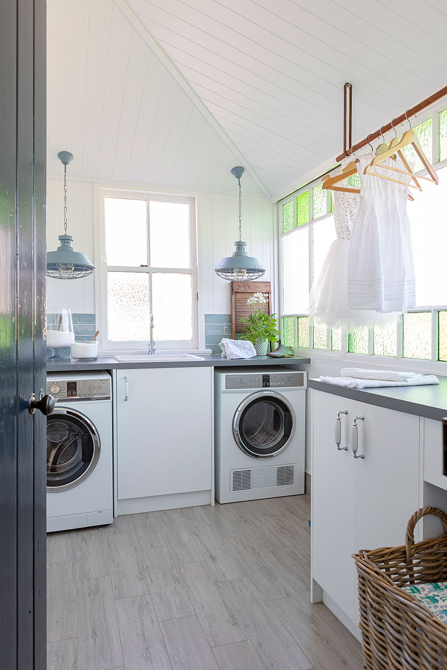 Renovated Queenslander home laundry