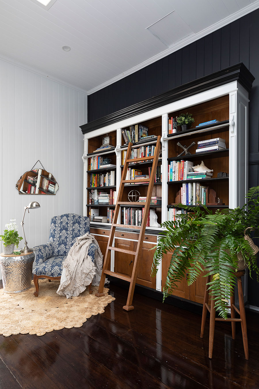 Renovated Queenslander home library study