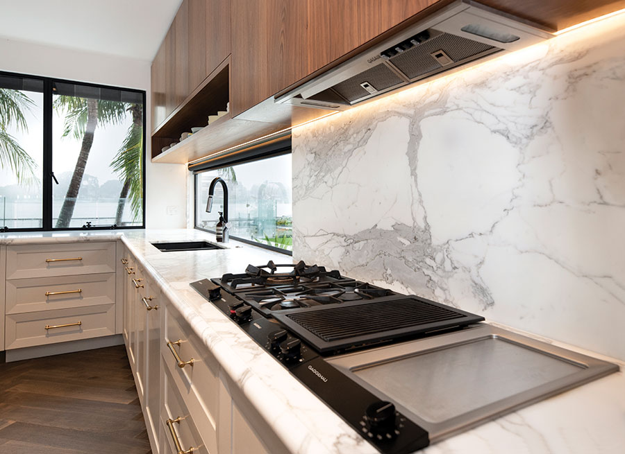 Style Kitchens by Design luxury kitchen marble splashback