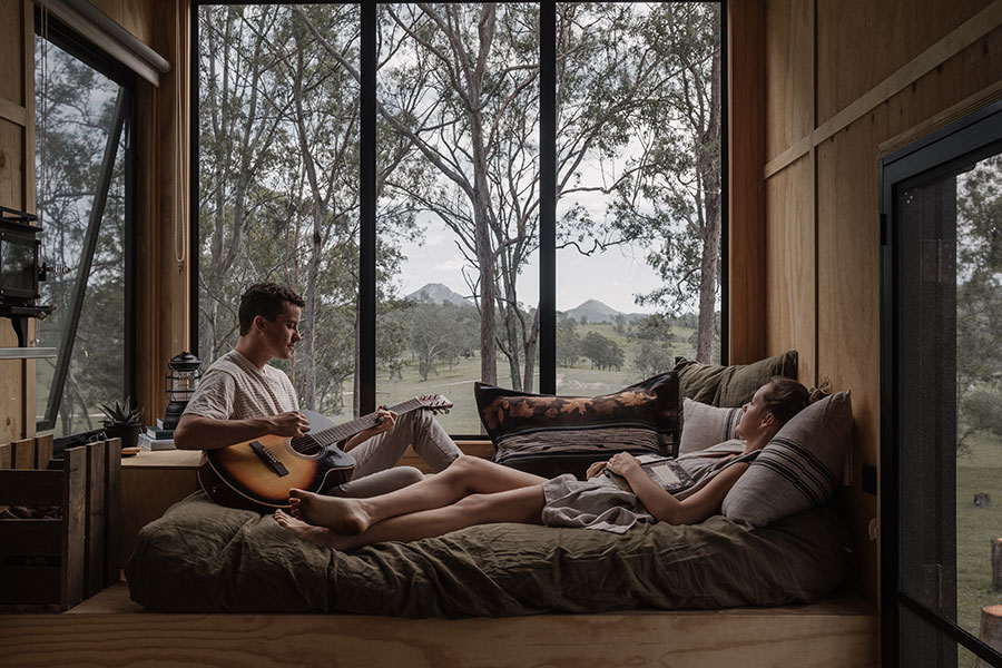 Unyoked Queensland tiny cabin wilderness travel