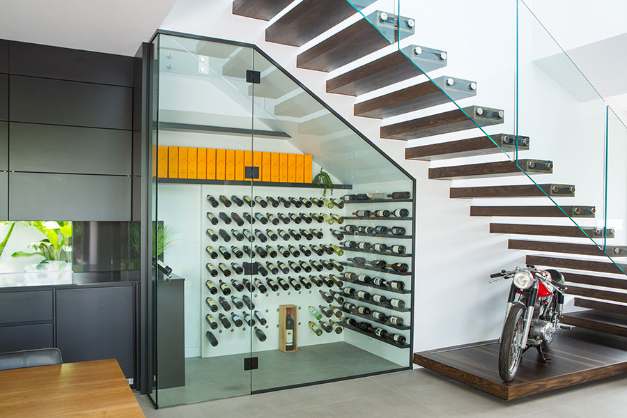 Euroglass glass wine cellar balustrading
