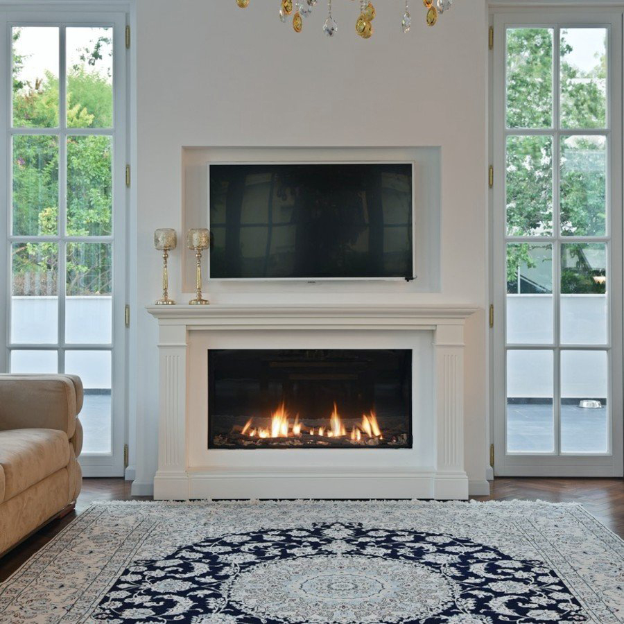 Classic style gas fireplace