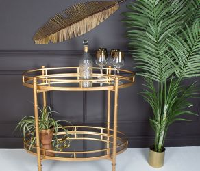 Gilt Mirrored Bar Cart